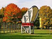 Autumn colors and Vilnius television tower antenna museum in Lithuania — Stock Photo