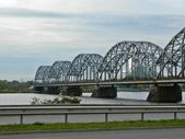 Bridge over Daugava river in Riga. Latvia — Stock Photo