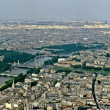 Aerial view of Paris from the Eiffel tower — Stock Photo