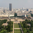 Stock Photo: Skyline cityscape view of champ de mars park with military school