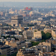 Aerial view at Paris architecture from the Eiffel tower — Stock Photo