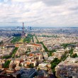 Paris aerial view from Montparnasse tower - Stok fotoraf