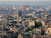 Aerial view at Paris architecture from the Eiffel tower — Stok fotoğraf
