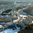Vilnius city aerial view - Stock Photo
