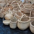 Stock Photo: New baskets pile