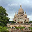 Sacre Coeur of Paris city Motmartre district. — Stok fotoğraf