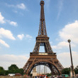 Eiffel tower it's one of most important towers of the world. - Stock Photo