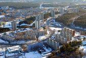 Luchtfoto uitzicht op de stad vilnius — Stockfoto