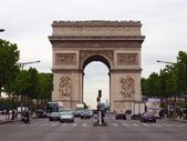 Paris Arc de triumph, the famous monument in Paris, France 2012 06 19. — Stock Photo