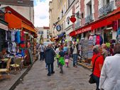 In the street of Motmartre. Paris. France 2012 06 19 — Stock Photo