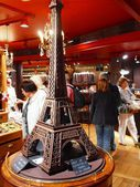 Chocolate house at Paris city Montmartre district. 2012 06 19 Paris. France. — Stock Photo