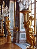 Sculptures at Versailles. Gold of Paris — 图库照片