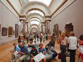 In the hall of Louvre museum. Paris. France. June 20, 2012 — Stock Photo