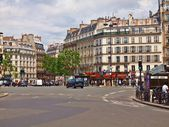 Paris city street day life. France. Europe — Stock Photo