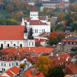 Bird eye view of Vilnius old town from Gediminas Tower — Stock Photo