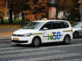 Vilnius taxi - Vilnius veza - in the city street — Stock Photo