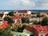 Top-view of the Old Town of Tallinn — Stock Photo