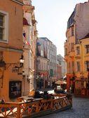 Old city, Tallinn, Estonia on the Town hall tower on August — Stock Photo