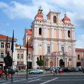 St. Casimir in Vilnius. One of the many beautiful churches Vilnius — Stock Photo