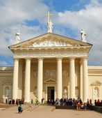 The Cathedral of Vilnius is the main Roman Catholic Cathedral of Lithuania. — Stock Photo