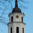 Vilnius cathedral bell tower and blue sky — Stock Photo #42274893