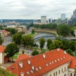 Lithuania in the summer. Vilnius panorama. — Stock Photo