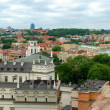 Vilnius city panorama from Gediminas hill. — Stock Photo