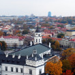 Old part of Vilnius city from above — Stock Photo