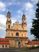 Ascension of the Lord and the church and former monastery Saric. Lithuania. — Stock Photo