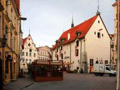 Old city, Tallinn, Estonia on the Town hall tower on August. — Stock Photo
