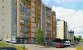 Vilnius today. New buildings at pasilaiciai — Stock Photo