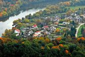 Vilnius city aerial view - Lithuanian capital bird eye view — Stock Photo
