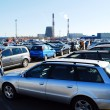 Market of second hand used cars in Kaunas city — Stock Photo #43614245
