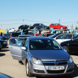 Market of second hand used cars in Kaunas city — Stock Photo #43614249