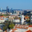 Panoramic View of Vilnius City Old Town and Modern Buildings — Stock Photo #45022055