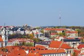 View of the old Vilnius from the tower of church — Stock Photo