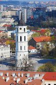 Center of the old European Vilnius city in Lithuania  — Foto Stock