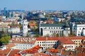 Cathedral pubic domain square area in the center of Vilnius — Stock Photo