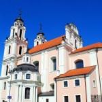 Church of St. Catherine in Vilnius, spring time — Stock Photo #45657511
