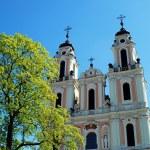 Church of St. Catherine in Vilnius, spring time — Stock Photo #45657663