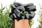 Vilnius city sculpture to remember Salomeja Neris  — Stock Photo