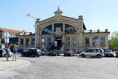 Hall market (Hales turgus) in the Vilnius city — Stock Photo