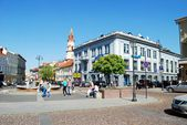 The Town Hall Square in Vilnius city — Stock Photo