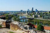 Vilnius city view from Gediminas castle — Photo