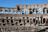 Colosseum was built in the first century in Rome city. — Stock Photo