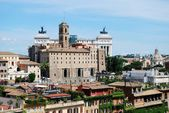 Ancient Rome city aerial view from Palatino hill — Stock Photo