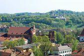 Vilnius city view from Gediminas castle. — Stock Photo