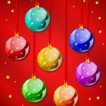 palle di Natale decorativi — Vettoriale Stock  #8135302