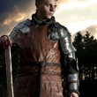 Portrait of a Knight in the blood - Foto Stock