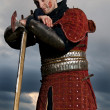 Portrait of a Knight in the blood — Stock Photo